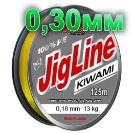 Jigline Kiwami braided cord; 0.30 mm; test 24.0 kg; length 125 m