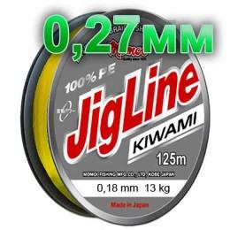Jigline Kiwami braided cord; 0.27 mm; test 20.0 kg; length 125 m