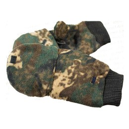 Mittens for winter fishing with open fingers