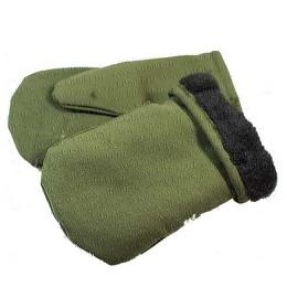 Gloves for winter fishing insulated; khaki