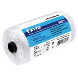 Thread kapron white Extra, reel 500 grams 0.45mm, 210d / 4