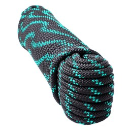 The cord is anchor, braided, euromotor; 6.0 mm, 30 m, black / green, in Europack