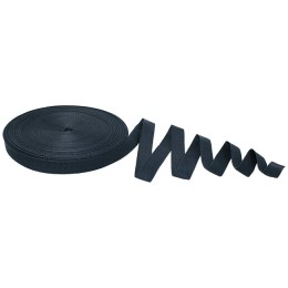 Anchor tape, 15 mm, 30 m, thermal pack, black