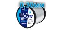 Fishing line UniLine; 0.30 mm; test 5.0 kg; weight 250 gr. length - 3000 m.
