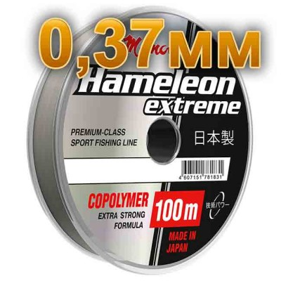 Fishing line Hameleon Extreme; 0.37 mm; test 14 kg; length 100 m, from: Momoi Fishing (Япония)