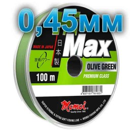 Hi-Max Olive Green fishing line; 0.45 mm; 18 kg test; length 100 m