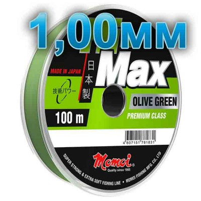 Hi-Max Olive Green fishing line; 1,00 mm; 70 kg test; length 100 m, from: Momoi Fishing (Япония)