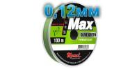 Hi-Max Olive Green fishing line; 0.12 mm; 1.6 kg test; length 100 m