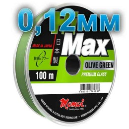 Hi-Max Olive Green fishing line; 0.12 mm; 1.6 kg test; length 100 m