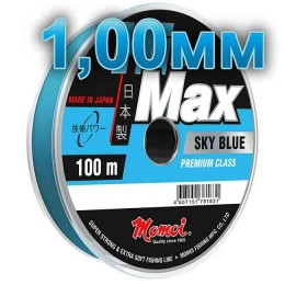 Hi-Max Sky Blue fishing line; 1,00 mm; 70 kg test; length 100 m