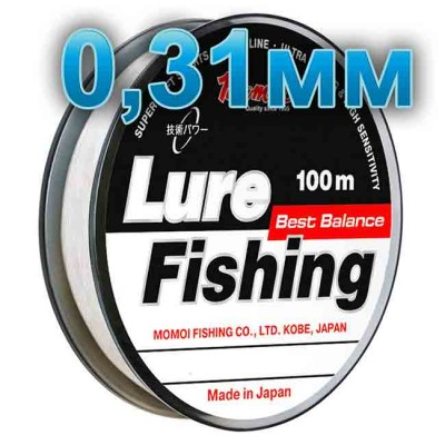 Fishing line Lure Fishung; 0.31 mm; test 10 kg; length 100 m, from: Momoi Fishing (Япония)