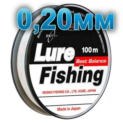 Fishing line Lure Fishung; 0.20 mm; test 5.0 kg; length 100 m, from: Momoi Fishing (Япония)
