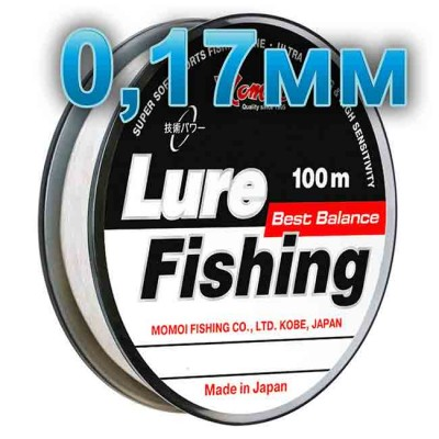 Fishing line Lure Fishung; 0.17 mm; 3.5 kg test; length 100 m, article 00064400066, production Momoi Fishing (Япония)