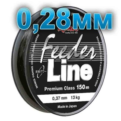Fishing line Feeder Line; 0.28 mm; test 8.0 kg; length 150 m, article 00064600099, production Momoi Fishing (Япония)