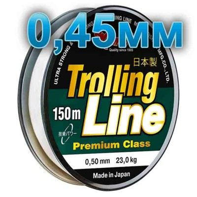 Fishing line Trolling Line Clear; 0.45 mm; 18 kg test; length 150 m, article 00064800082, production Momoi Fishing (Япония)