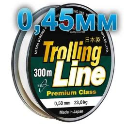 Fishing line Trolling Line Clear; 0.45 mm; 18 kg test; length 300 m