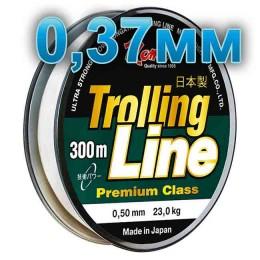 Fishing line Trolling Line Clear; 0.37 mm; 13 kg test; length 300 m
