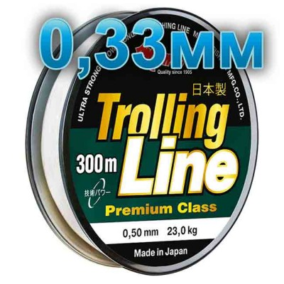 Fishing line Trolling Line Clear; 0.33 mm; 11 kg test; length 300 m, article 00064800256, production Momoi Fishing (Япония)