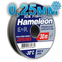 Winter line Hameleon Ice Fishing; 0.25 mm; 7.5 kg test; length 30 m