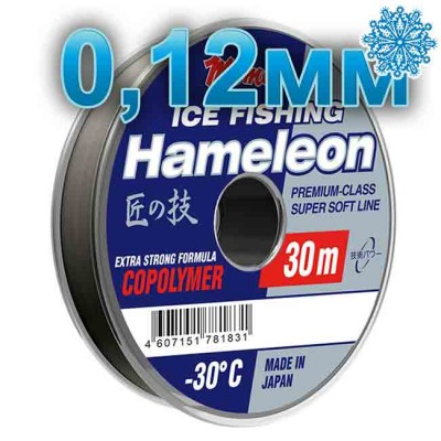 Winter line Hameleon Ice Fishing; 0.12 mm; test 1.7 kg; length 30 m, article 00067600078, production Momoi Fishing (Япония)