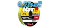 Winter line Hi-Max Winter F-Yellow; 0.25 mm; 6.5 kg test; length 30 m
