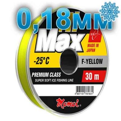 Winter line Hi-Max Winter F-Yellow; 0.18 mm; 3.5 kg test; length 30 m, article 00068100080, production Momoi Fishing (Япония)