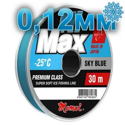 Winter Hi-Max Winter Sky Blue; 0.12 mm; 1.6 kg test; length 30 m, article 00068100083, production Momoi Fishing (Япония)