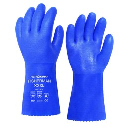 PVC gloves with cotton lining; XXL
