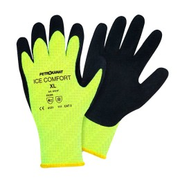 Insulated fishing gloves, latex, yellow ice-comfort; L