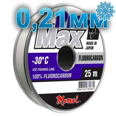 Fluoro Carbonate Pro-Max Fluorocarbon; 0.21 mm; 4.5 kg test; length 25 m, from: Momoi Fishing (Япония)