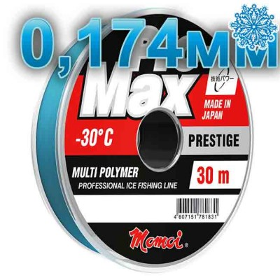 Scaffold winter Pro-Max Prestige; 0.174 mm; 3.5 kg test; length 30 m, article 00070600134, production Momoi Fishing (Япония)