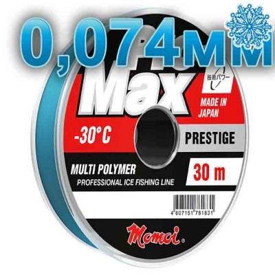 Scaffold winter Pro-Max Prestige; 0.074 mm; 0.7 kg test; length 30 m, article 00070600144, production Momoi Fishing (Япония)