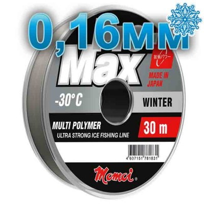 Scaffold winter Pro-Max Winter; 0.16 mm; 3.3 kg test; length 30 m, article 00070700106, production Momoi Fishing (Япония)