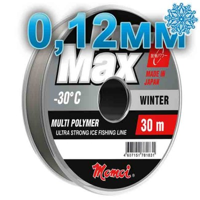 Scaffold winter Pro-Max Winter; 0.12 mm; 1.8 kg test; length 30 m, article 00070700109, production Momoi Fishing (Япония)