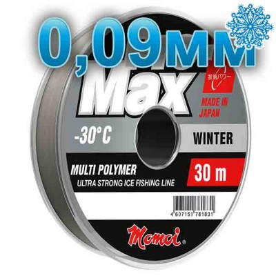 Scaffold winter Pro-Max Winter; 0.09 mm; 1.1 kg test; length 30 m, article 00070700111, production Momoi Fishing (Япония)