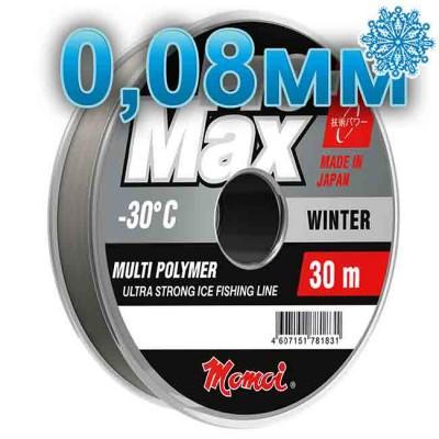 Scaffold winter Pro-Max Winter; 0.08 mm; test 0.90 kg; length 30 m, article 00070700112, production Momoi Fishing (Япония)