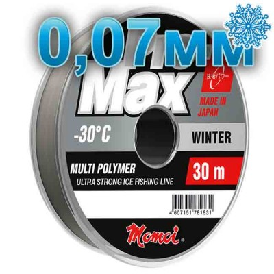 Scaffold winter Pro-Max Winter; 0.07 mm; test 0.80 kg; length 30 m, article 00070700113, production Momoi Fishing (Япония)