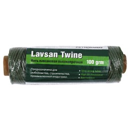Lavsan thread dark green, 1.4 mm, 20s / 24 test 30 kg, 100 g
