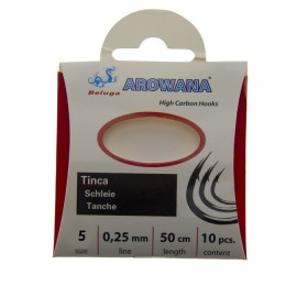 Hooks with leashes Arowana Tinca; Number 5