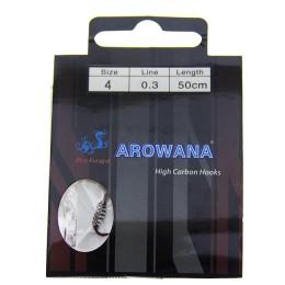 Hooks spring with leashes; Arowana No. 4