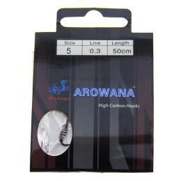 Hooks spring with leashes; Arowana No. 5