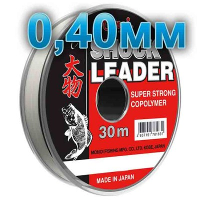 Shock Leader fishing line; 0.40 mm; test 17.0 kg; length 30 m, article 00125200003, production Momoi Fishing (Япония)