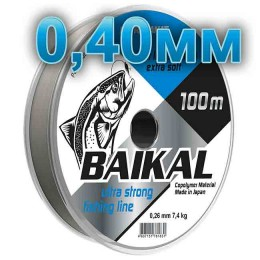 Fishing line Baikal, transparent; 0.40 mm; test 16.0 kg; length 100 m