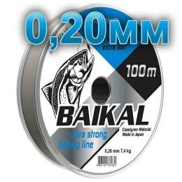 Fishing line Baikal, transparent; 0.20 mm; test 4,8 kg; length 100 m