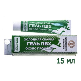 Reinforced PVC gel, tube of 15 ml .; White