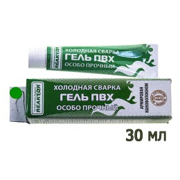 Reinforced PVC gel, tube of 30 ml .; Green