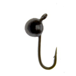 Jig tungsten Ball with eye, small (diameter 2.5 mm), black