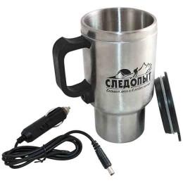 Heated mug, metal flask
