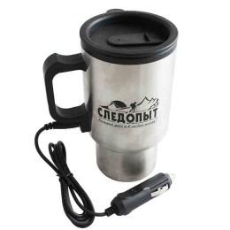 Heated mug, plastic flask