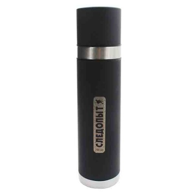 Stainless thermos with double cover, 750 ml, article 00159500002, production Следопыт (Россия)